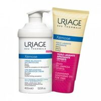 Xémose Crème relipidante anti-irritations Fl pompe/400ml + Huile lavante 200ml à ALBI