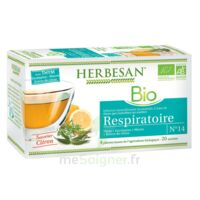 Herbesan Thym bio Tisane respiratoire 20 Sachets à ALBI