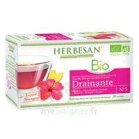 Herbesan Infusion Bio Tisane drainante 20 Sachets à ALBI